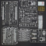 Inbox content: all sprues, hull tub, PE fret, copper cable and decals