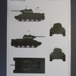 Color sheet with painting instructions. There is only one option depicted with slogan on turret which means ''For Soviet Moldova''.