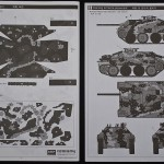 Last page of assembly guide with camouflage pattern masking plan and page with painting scheme.