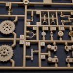 On C sprue you can find parts for drive wheel typical for late version, without holes on the outer edge of the wheel.